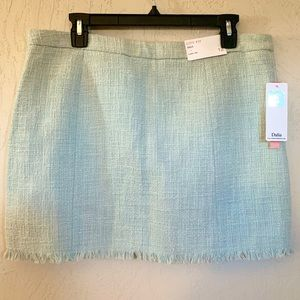 Dalia Mint Green Tweed City Fit Midi Skirt Size 12